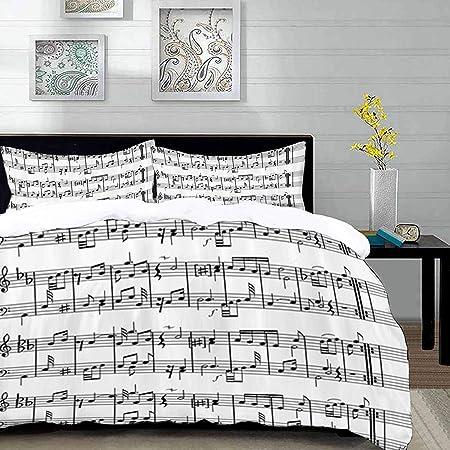 Copripiumino Musica.Yaoni Biancheria Da Letto Copripiumino Musica Note Musicali Su