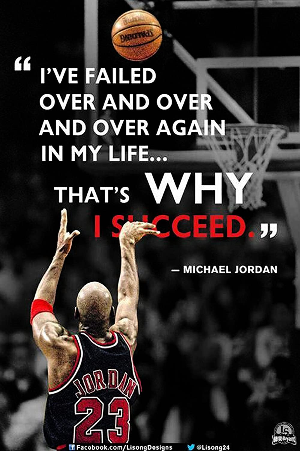 Ive Failedmichael Jordanquotes 42 Get Motivated Poster
