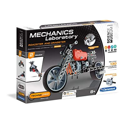 Clementoni 61285 Mechanics Lab Roadster and Dragster Scientific Kit: Toys & Games