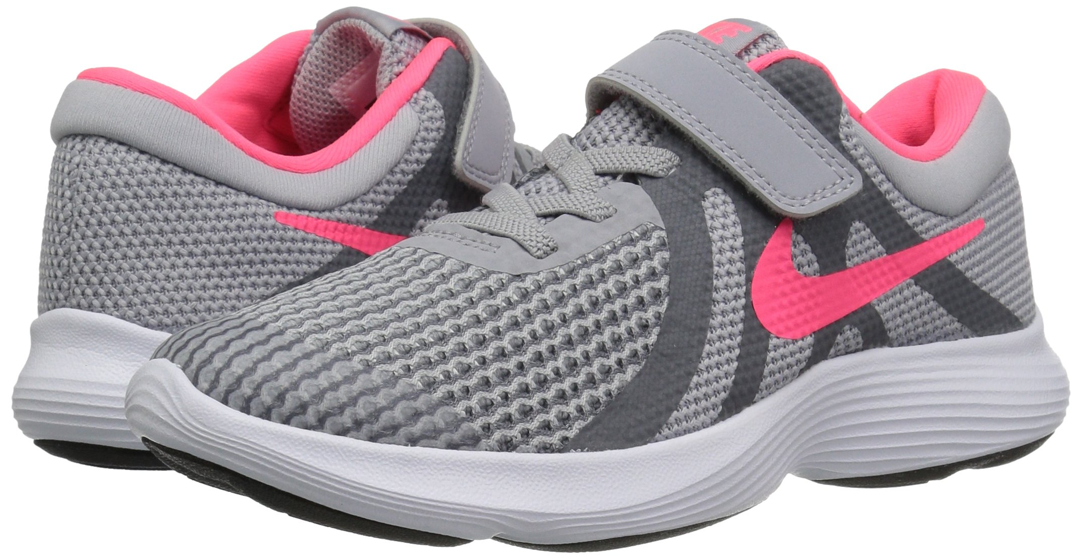 Nike Girls' Revolution 4 (PSV) Running Shoe, Wolf Racer Pink-Cool Grey-White, 3Y Child US Little Kid by Nike (Image #5)