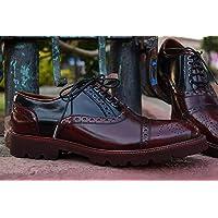 Zapato Oxford 613 Rojo Brillante/Negro Inca (25)