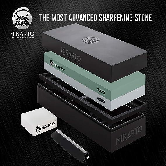 Amazon.com: Juego de cuchillos de afilar de piedra de afilar ...