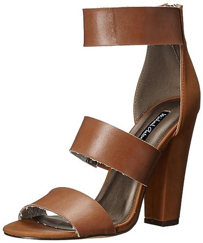 Michael Antonio Women's Joxy Dress Sandal, Whiskey, ...