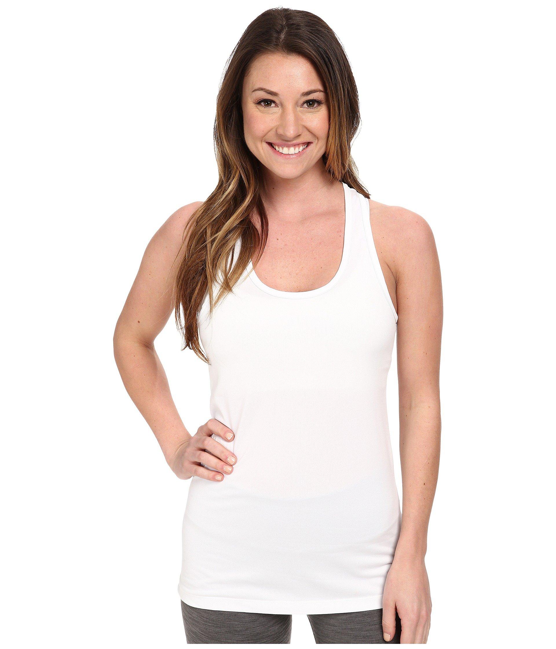 NIKE Women's Dry Balance Tank, White/White, Small