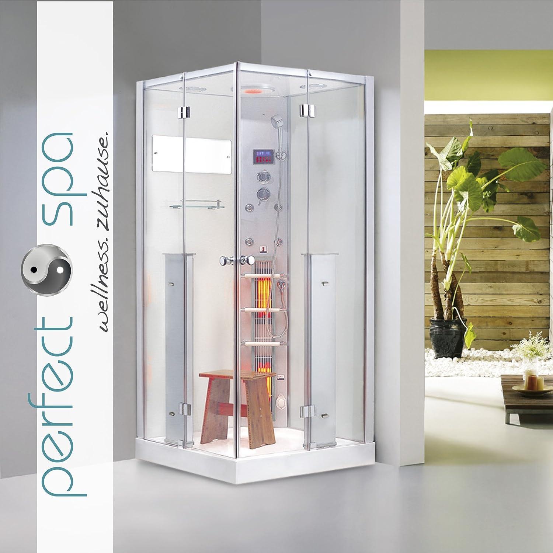 infrarotdampfdusche malta infrarotkabine infrarot dampfdusche dampf sauna dusche wrmekabine amazonde kche haushalt - Infrarotkabine Kombiniert Mit Dusche