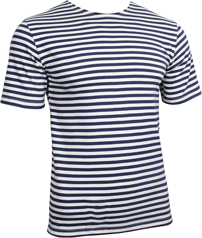 Ruso azul marino rayas Telnyashka Camiseta – Azul marino y azul ...