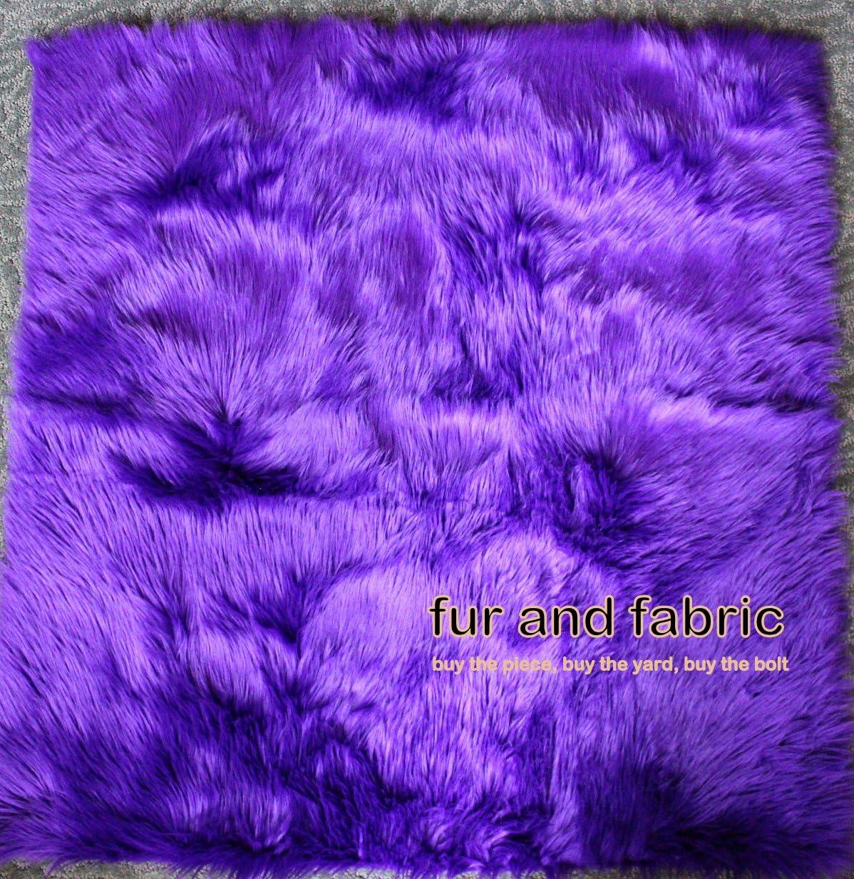 Fur Accents Shaggy Faux Fur Area Rug Purple Sheepskin Accent Carpet 5 X 8 Rectangle