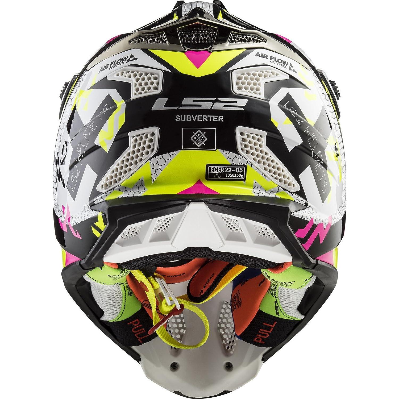 LS2-404702354M//162 LS2-404702354M//162 Casco enduro offroad motocross SUBVERTER MX470 TRIPLEX COLOR NE//AM//RO TALLA M