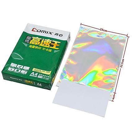 Amazon com : 100 pcs Hologram Aluminum Foil Adhesive Pouch Courier