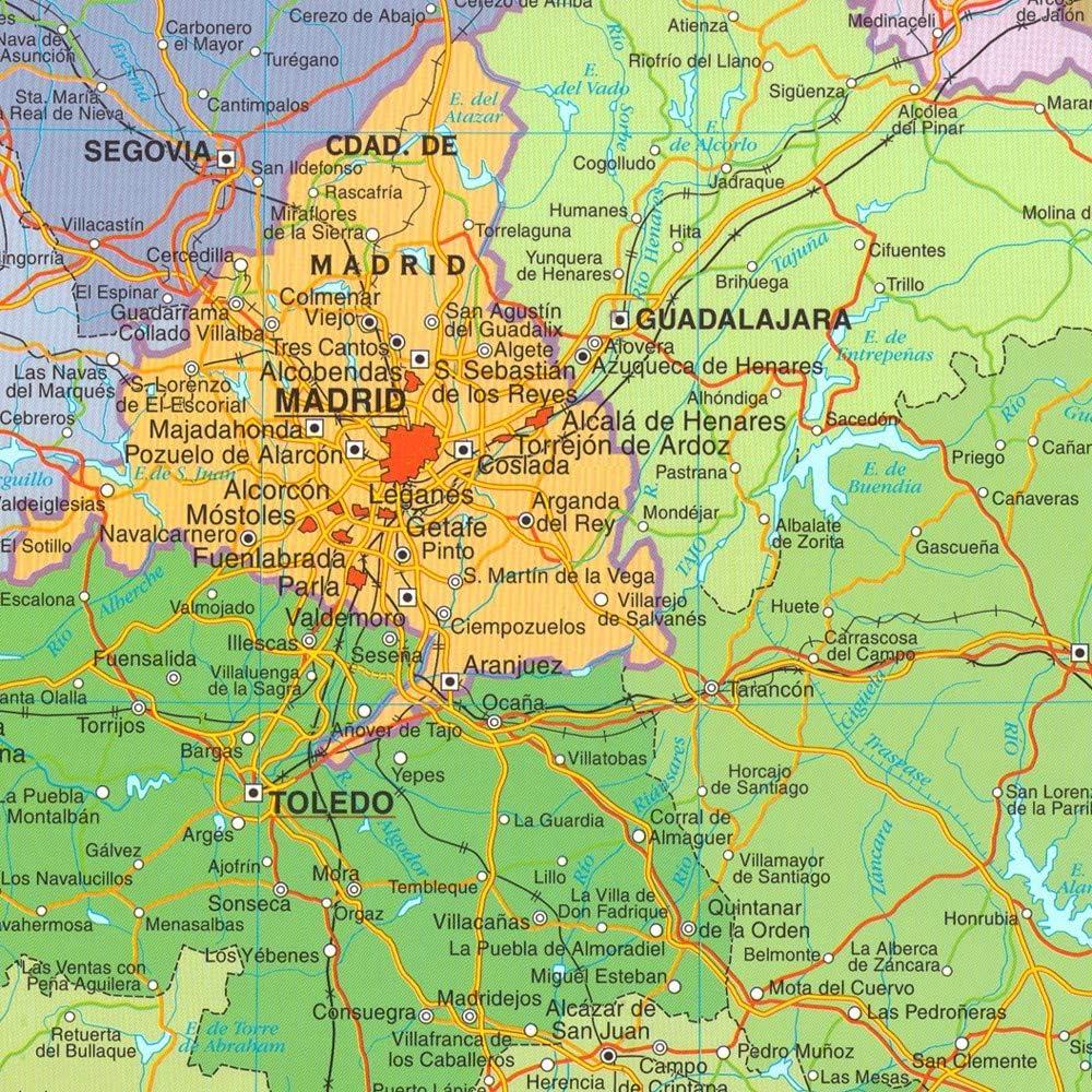 OFITURIA Mapa de España Superficie Magnetica Sin Marco Medida 150X100cm: Amazon.es: Oficina y papelería