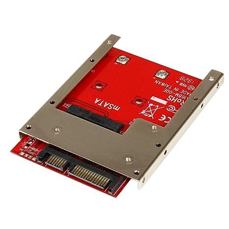 amazon com startech com msata ssd to 2 5in sata adapter converter