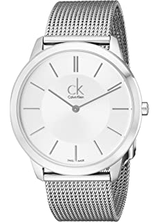 Calvin Klein Minimal Collection Stainless Band Silver Dial Mens Watch - K3M21126