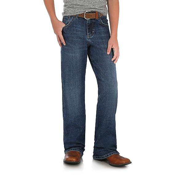 2376ea7a0c706c Wrangler Boys' Big Retro Relaxed Fit Boot Cut Jean, Alpine, 12 Reg ...