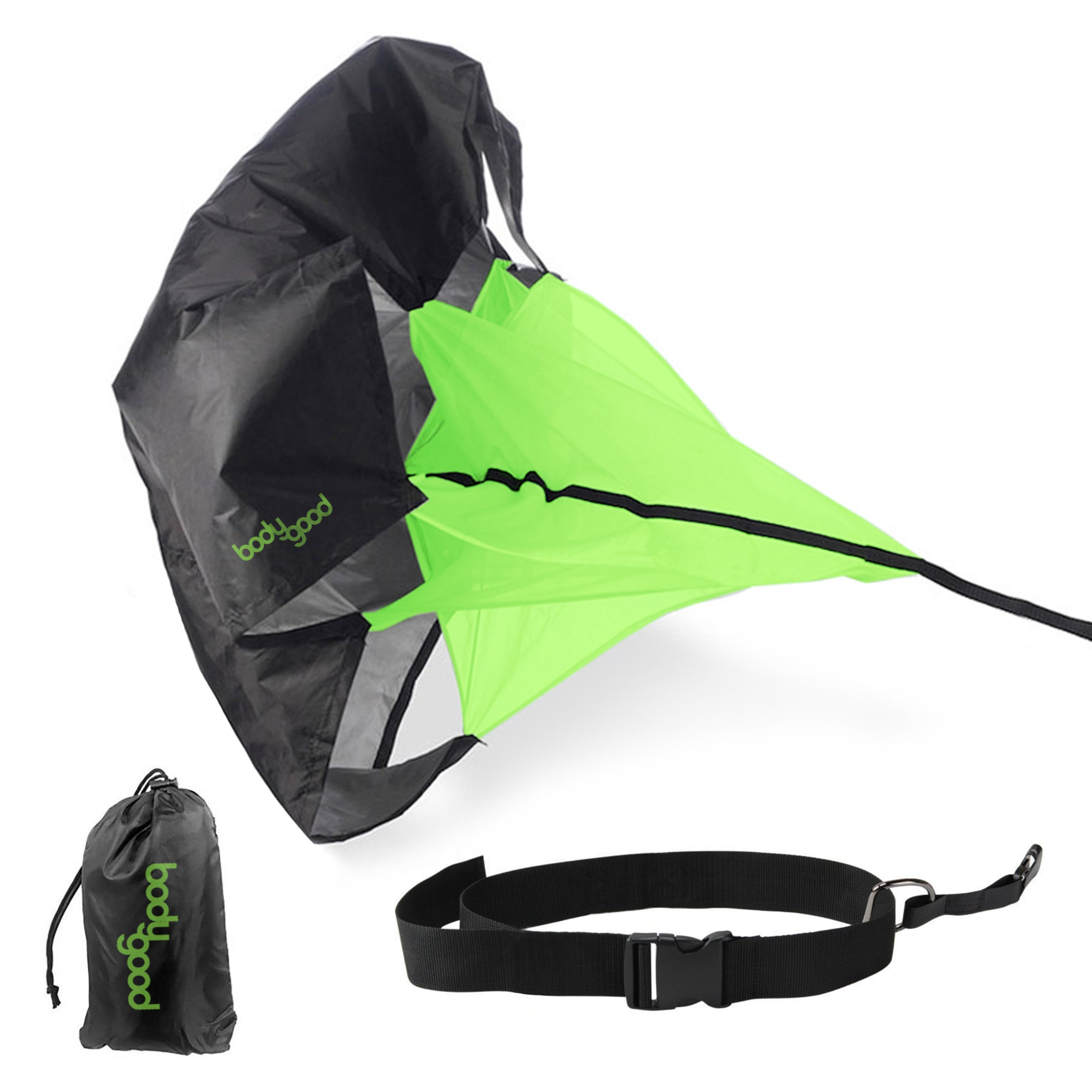 Running Parachute by BodyGood. Performance Training at its Best with Wind-Resistant 54 Inch Speed Chute – Achieve…