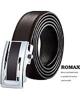 ROMAX  ベルト メンズ  本革  ビジネス カジュアル 自動ロック 高級レザー 紳士 オートロック式  サイズ調整 おしゃれ プレゼント