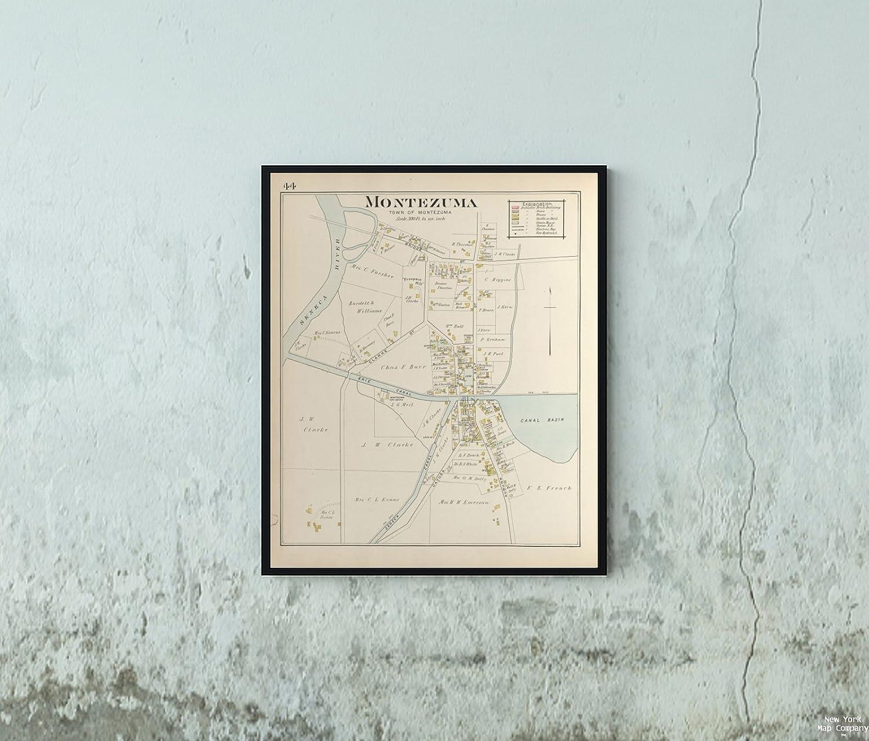 Amazon.com: 1904 Map Philadelphia Cayuga County, Left Page Map ... on