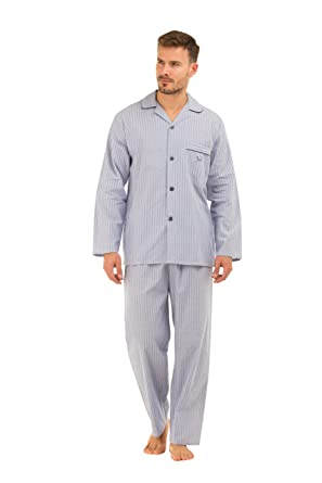 Haigman Mens Poplin 100/% Cotton Pyjama Set Lightweight Pyjama Pjs Size UK M-XXL