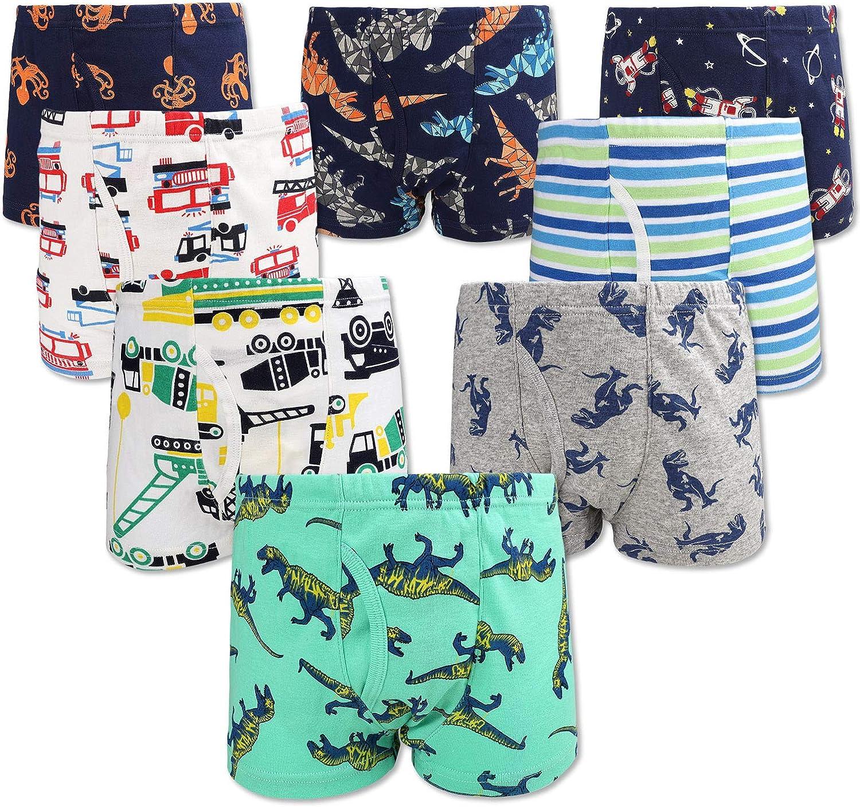 JackLoveBriefs Jungen Boxer Unterhose Baumwolle Kinder Unterw/äsche 2-10 Jahre, Packung mit 9 St/ück