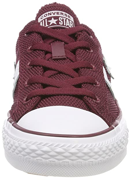 37962033c1e Converse Men s Adults  Star Player Ox Trainers Dark Burgundy White Red (Dark  Burgundy White 628) 7.5  Buy Online at Low Prices in India - Amazon.in