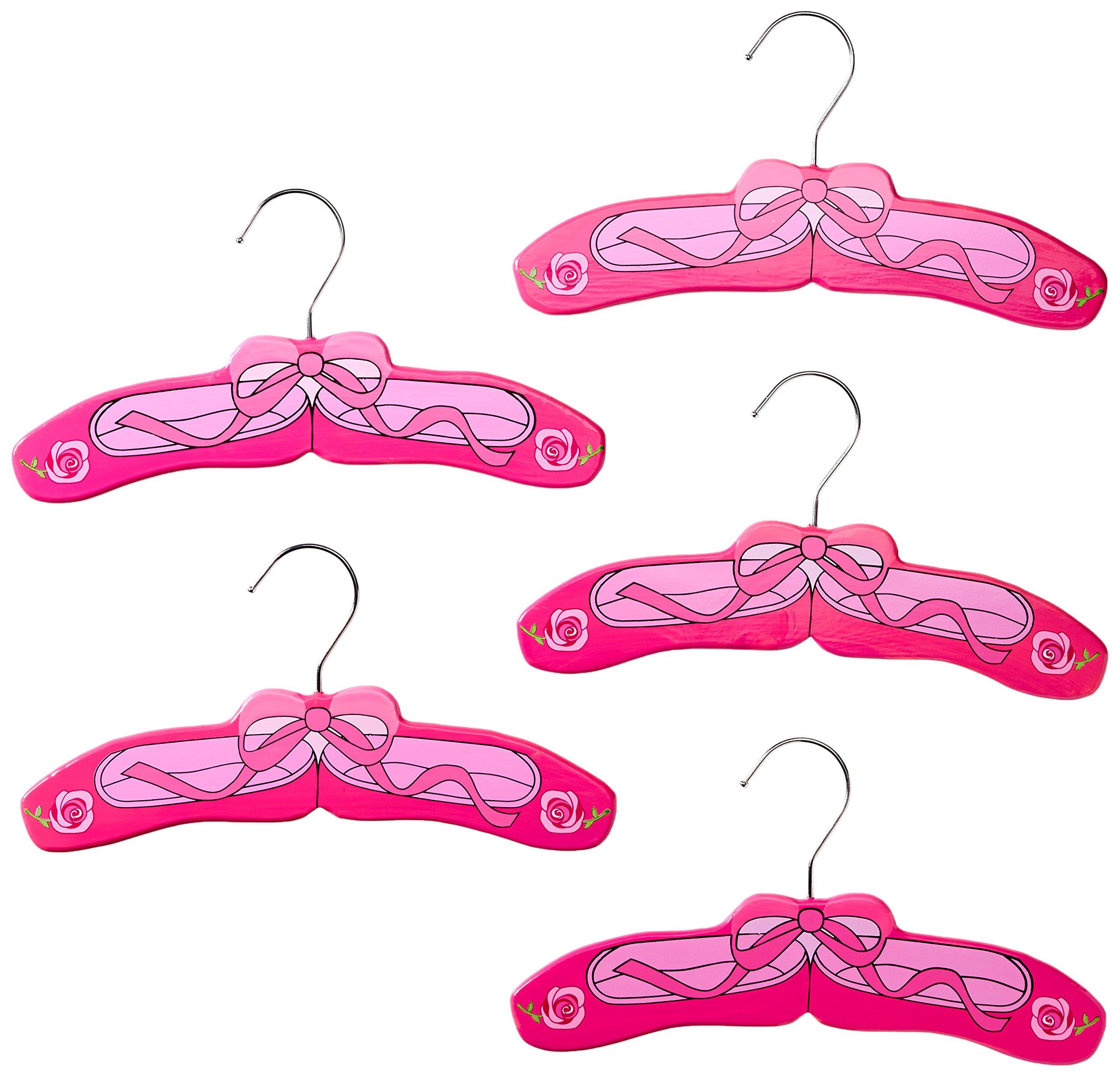 Kidorable Girls' Ballerina Hanger Set, Pink, Small
