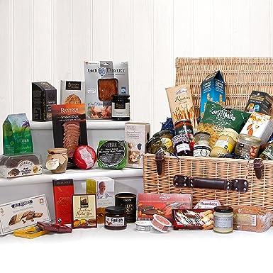 Christmas Hamper Basket.The Mayfair Gourmet Gift Hamper Large Luxury Food Wicker