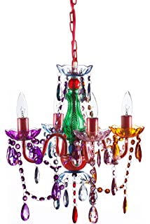 Amazon 3c4g chandelier multi color home kitchen the original gypsy color 4 light small gypsy chandelier for h 175 x w 15 mozeypictures Images