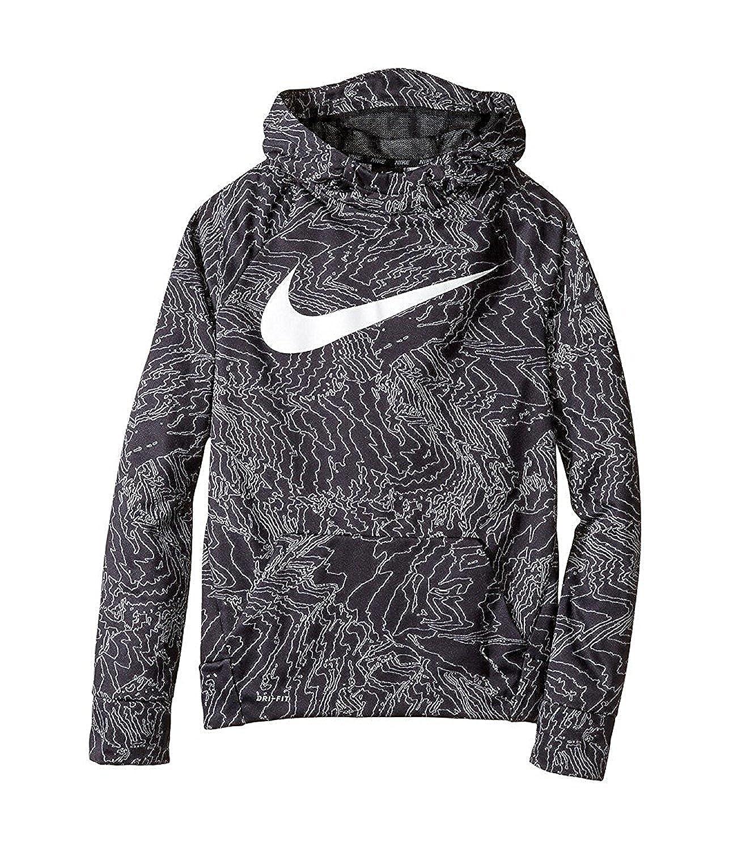 88eabe7dd Amazon.com: Nike Boy's Therma Training Hoodie (4, Blue Jay/Multi): Clothing
