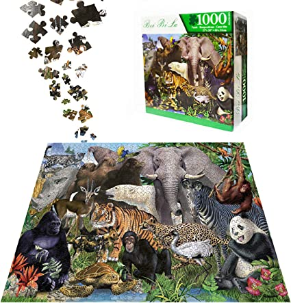 1000 Piece Animal World Jigsaw Puzzles for Adults Kids