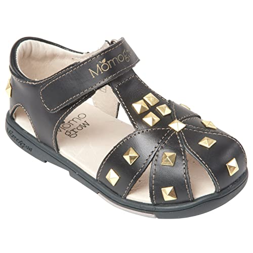 720d5cc4e Momo Grow Girls Studded Leather Sandal Shoes - 8 M US Toddler
