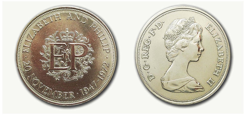 Collectible coins - Queen Elizabeth and Prince Philip 1947 - 1972 Silver  wedding crown