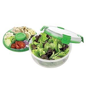 SnapLock by Progressive SNL-1022G Salad To-Go Container, Green