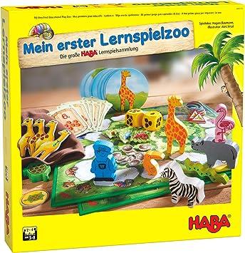 Haba 305173 Mein erster Lernspielzoo, 10 juegos de aprendizaje ...