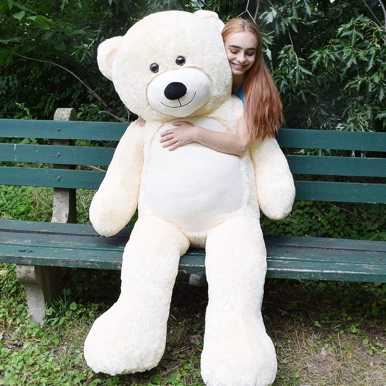 "6Ft Giant Stuffed Teddy Bear Soft Plush Animal Toy Birthday Mother Kid Gifts 72/"""