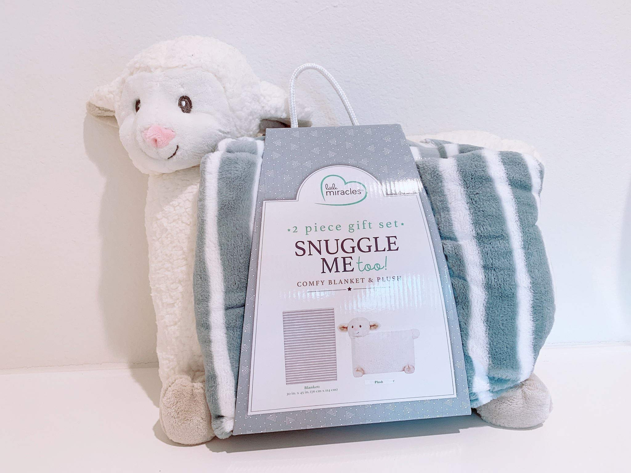 Little Miracles Snuggle Me Too! 2-Piece Comfy Blanket and Plush Gift Set - Sheep
