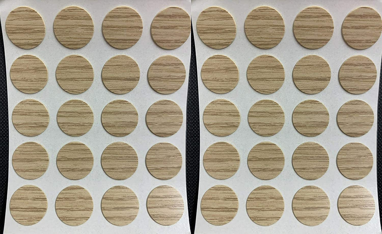 Tapas autoadhesivas para tornillos de 13 mm plateado