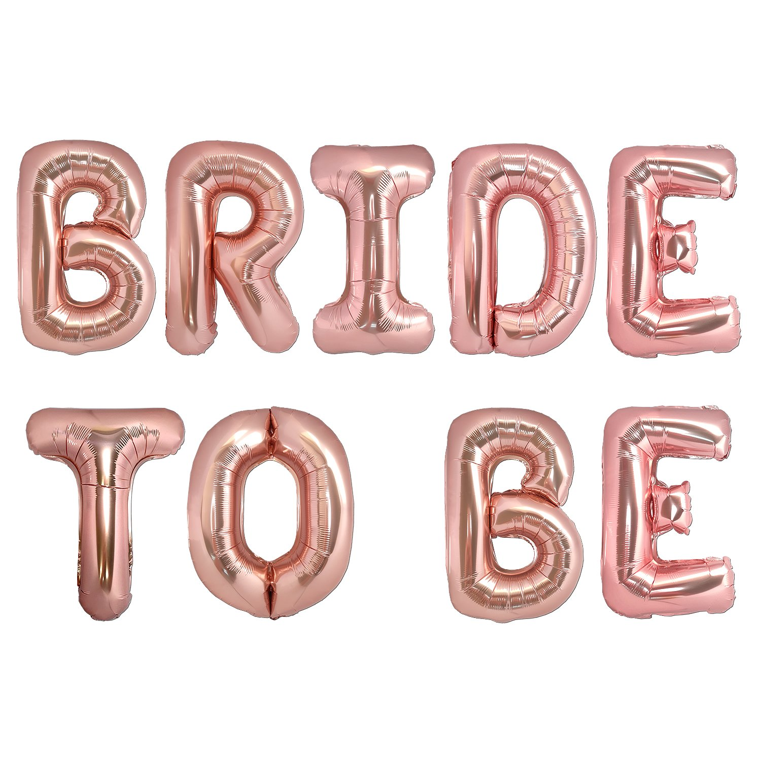 big bride to be balloons rose gold 16 letters banner bachelorette party decorations bride