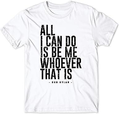 LaMAGLIERIA Camiseta Hombre Bob Dylan Bdy08 - Camiseta 100 ...