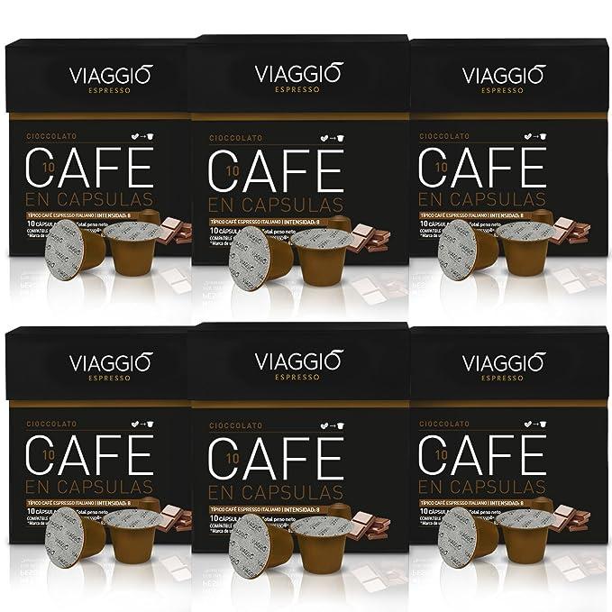 VIAGGIO ESPRESSO - 60 Cápsulas de Café Compatibles con Máquinas Nespresso - CIOCCOLATO