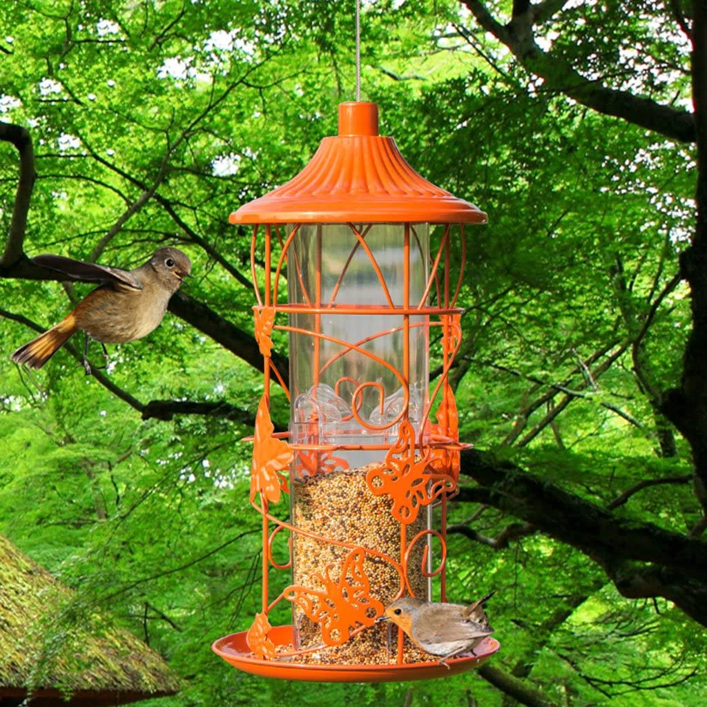 Salvaje Pájaro Alimentador Mascota Pájaro Colgando Alimentación Para Pinzones, Pájaro Semillas Y Más Y Ideal Para Atraer Aves Al Aire Libre. Cacoffay