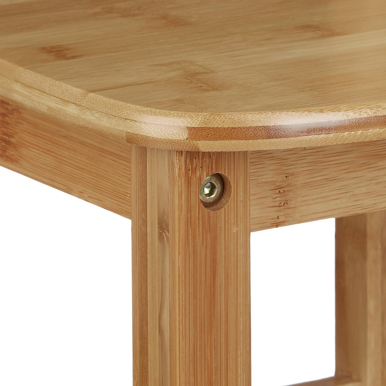 50 x 28,5 x 28 cm Relaxdays Chaise enfant bambou RUSTICO nature chambre denfants bois pour filles et gar/çons HxlxP nature