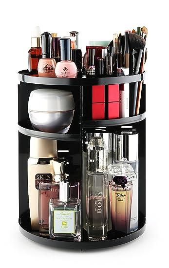 Amazon Com Lattepapa House Rotating Cosmetic Organizer Black
