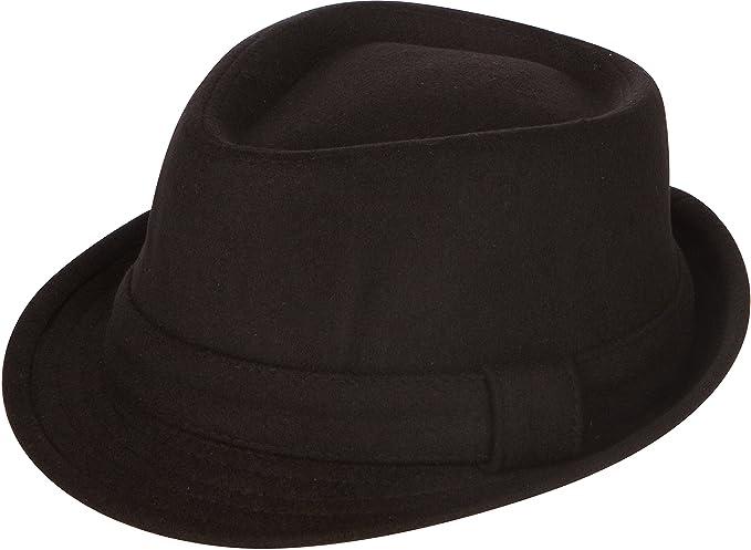 Sakkas EHA5033FM Unisex Structured Wool Fedora Winter Hat (3 Colors) - Black  S c34ecbe99924