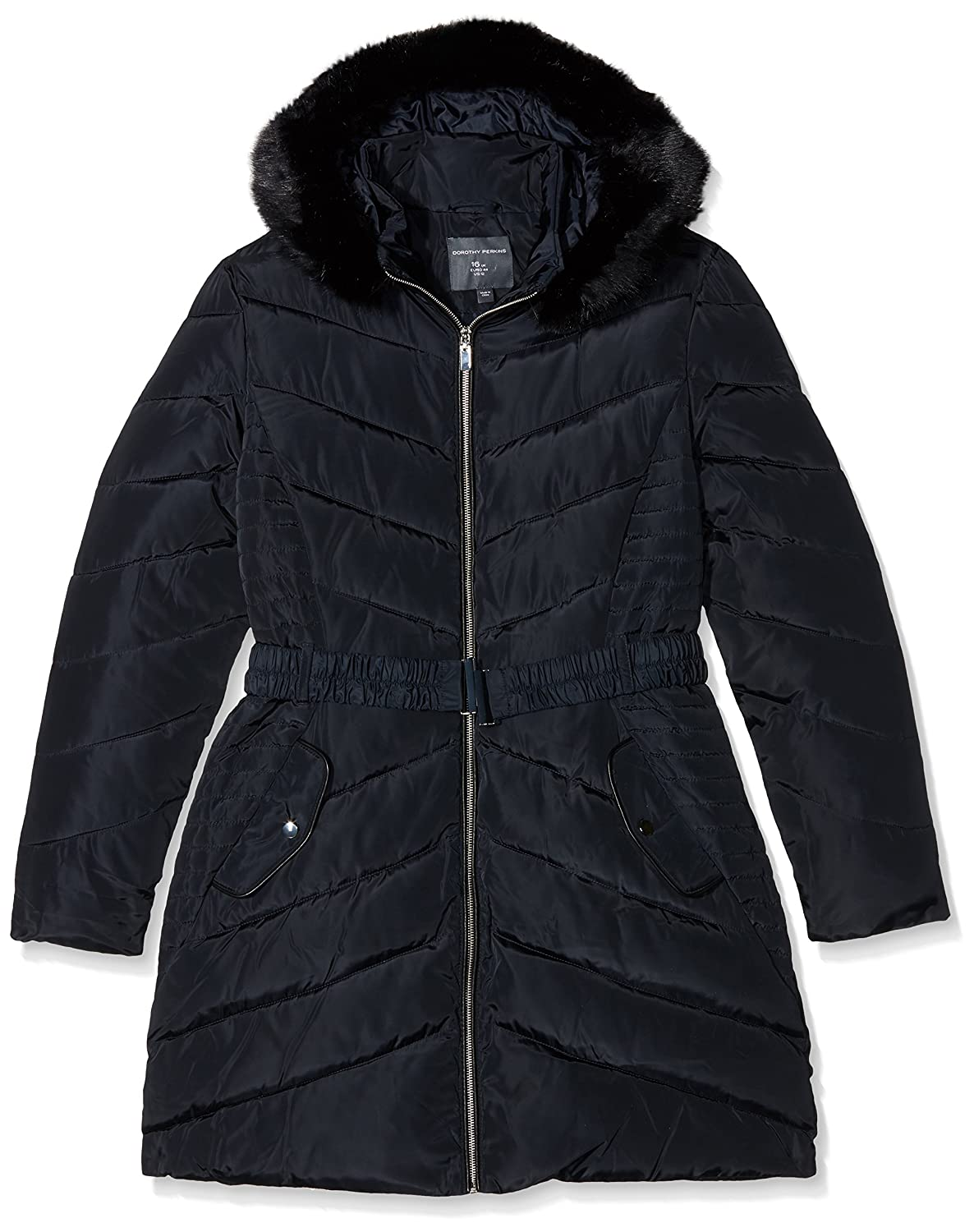 cafbb089b6f8 Dorothy Perkins Tall Women s Luxe Belt Padded Jacket