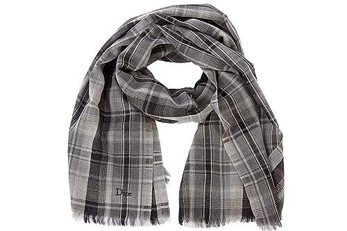en venta 19dc8 0b0ee Dior bufanda de hombre en lana nuevo gris: Amazon.es ...
