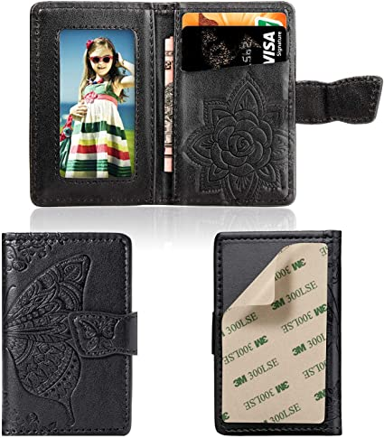 Cmeka Cell Phone Wallet,Credit Card Holder for Back of Phone Pocket 3M Adhesive Sticker Card Pouch Sleeve for iPhone//Samsung Galaxy//Sony//Android and Most Smartphones Blue-Mandala