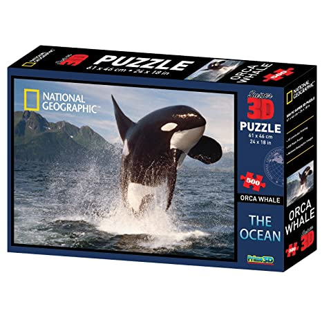 amazon com national geographic the ocean orca whale super 3d puzzle