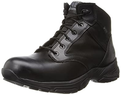 Timberland PRO Men's 5 Inch Valor Soft Toe Waterproof Duty Boot,Black  Smooth With Textile