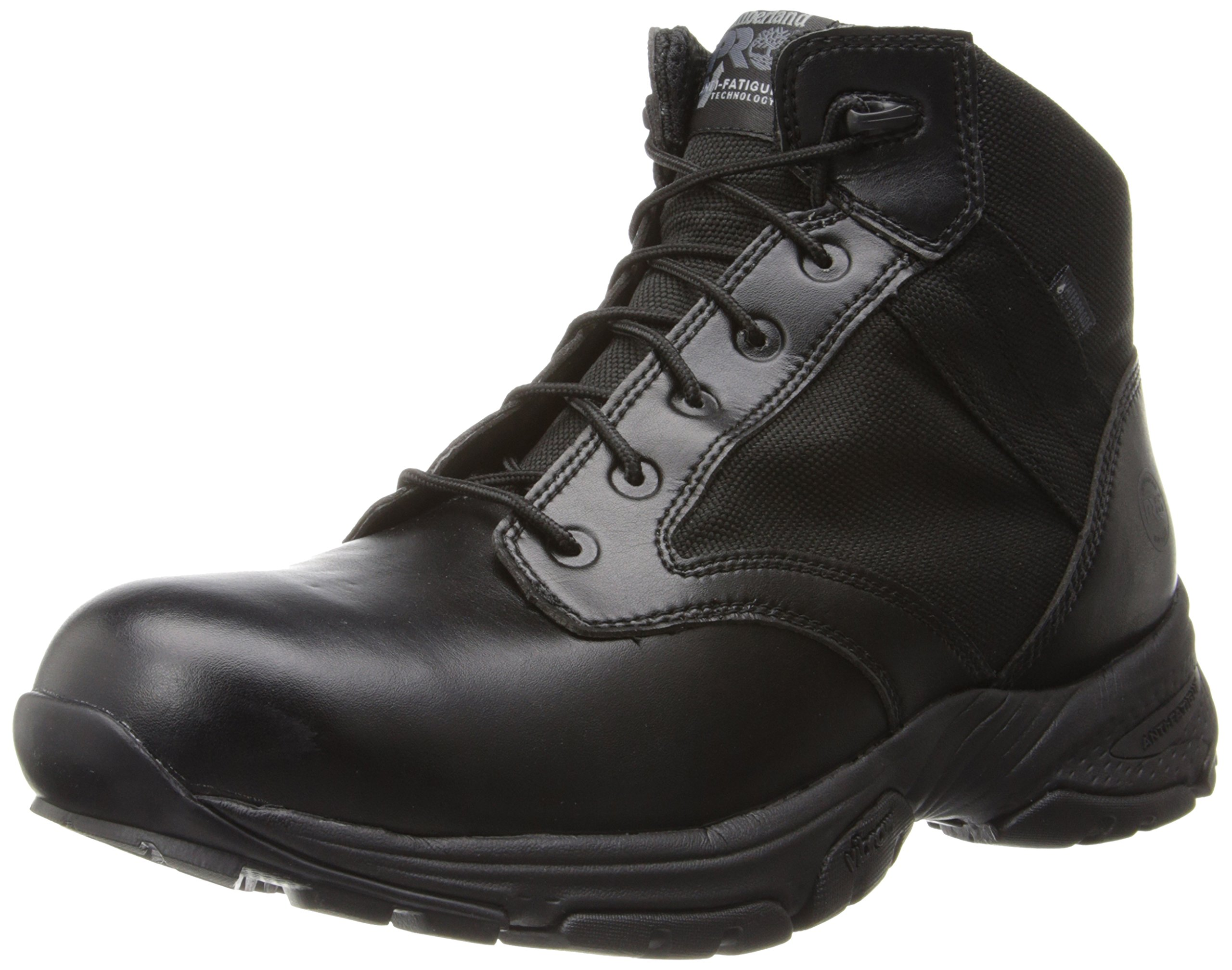 Timberland PRO Men's 5 Inch Valor Soft Toe Waterproof Duty Boot,Black Smooth With Textile,11 M US
