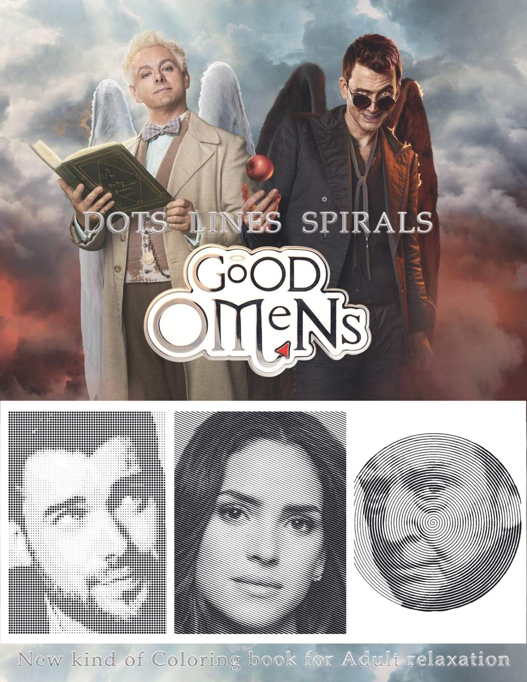 Good Omens Dots Lines Spirals: The BEST Coloring Book for Any Fan!!!