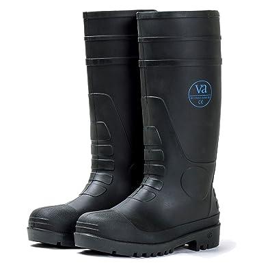 962f6fc3b09 VA Mens Ladies Safety Steel Midsole Toe Cap Wellington Wellies Work Boot  Waterproof